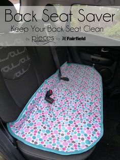 To keep your backseat clean under the car seat area. Pieces by Polly: Back Seat Saver - Keep Your Car Seat Clean - Life Hack Sewing Hacks, Sewing Tutorials, Sewing Crafts, Sewing Tips, Sewing Ideas, Sewing Basics, Tutorial Sewing, Bag Tutorials, Purse Tutorial