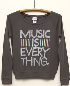 Music is Everything Long Sleeve Top for Girls