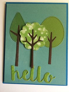 Tree-Mendoza dies and Hello die from #mftstamps.