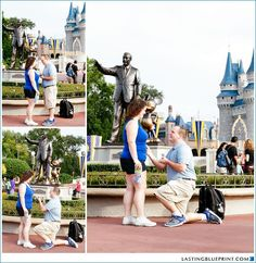 Walt Disney World Magic Kingdom Marriage Proposal Photos #disneyproposal #Disneyworld #marriageproposal