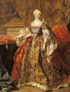 Portrait of Elisabeth Farnese Louis Michel van Loo Wholesale Oil ...