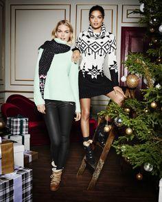 Klara Wester and Shanina Shaik for Gina Trioct Christmas 2014.