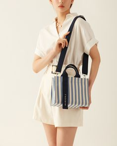 New collection of Rico Mini stripe in 4 colors! Discover in our online store. #MARHENJ #마르헨제이 #CANVASBAG #캔버스백 #RICOMINI #리코미니 #VEGANBAG #비건백 #에코백추천 Look Fashion, Fashion Bags, Mochila Jeans, Pastel Designs, Insulated Lunch Bags, Fabric Bags, Brown Bags, Pouch Bag, Cloth Bags