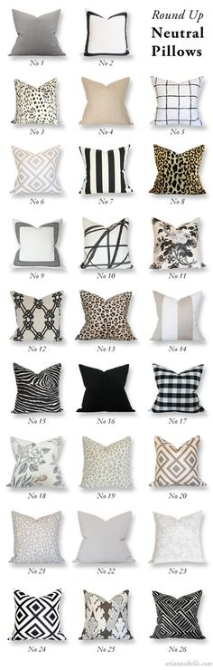 designer pillows in customizable sizes