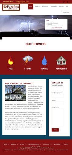 Atlanta Home Disaster Restoration Portfolio Web Design, Restoration Services, Kitchen Remodel, Communication, Website, Business, Communication Illustrations, Business Illustration, Updated Kitchen