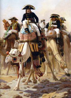 Jean-Léon Gérôme (pintor y escultor Francés, 1824-1904) Bonaparte et son armée en Egypte (Napoleón y Su Estado Mayor en Egipto) ...