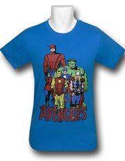 201b2ba94a85 Avengers Classic Turquoise 30 Single T-Shirt Avengers Team