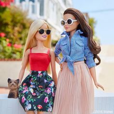 56.4 тыс. отметок «Нравится», 453 комментариев — Barbie® (@barbiestyle) в Instagram: «Hanging with Ms. Honey in our sunnies! #barbie #barbiestyle»