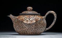 Collectors of Wood Art Artists Portfolio Wood Sculpture, Sculptures, Michael Gibson, Teapots Unique, Pottery Teapots, Artist Portfolio, Wood Creations, Chocolate Pots, Tea Ceremony