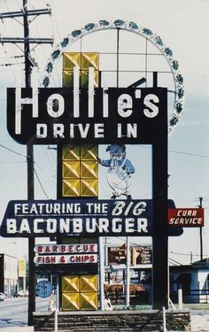 COLLECT / COLLECTOR / COLLECTION: Hollie's Drive-In sign photo from Jerry Hilterbrand's memorabilia collection in Oklahoma City, November  10, 2010. Photo by Steve Gooch, The Oklahoman ORG XMIT: KOD