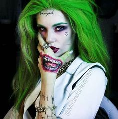 31 Days Of Halloween Beauty Inspiration Female Joker Makeup Joker Makeup Joker Halloween
