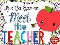 Setting up for Meet the Teacher- I'm gonna blink and it will be time for meet the teacher! Pin now, read later!