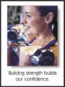 Womens Free Weights Building Strength Motivational Poster - available at www.sportsposterwarehouse.com