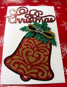 3D Christmas Card Multi Layered with Foil cardstock by BrushFancy