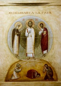 Transfiguration (contemporary) by Ioan Popa Pictures Of Jesus Christ, Images Of Christ, Byzantine Icons, Byzantine Art, Religious Icons, Religious Art, Christian Mysticism, The Transfiguration, Christian Artwork