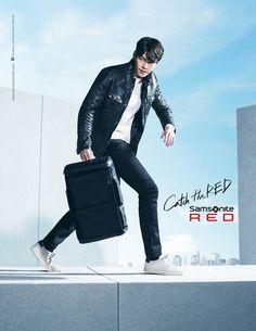 Kim Woo Bin has become the model for bag brand, 'Samsonite Red,' starting this year!'Samsonite Red' shared pictures on January 4 along with the words … Hot Actors, Handsome Actors, Handsome Guys, Kim Woo Bin, Korean Actresses, Korean Actors, Lee Min Ho, Hallyu Star, Red Pictures