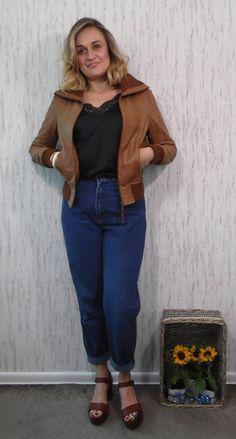 Vintage Rock'n Blue Leather Jacket Biker Jacket S size by SweetSpicyVintage on Etsy