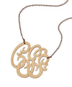 Max & Chloe monogram necklace - classic size, 14k rose gold