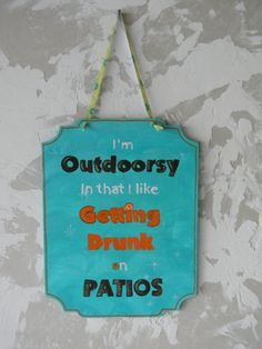 Drinking Sign by passionforpaint on Etsy, $9.95