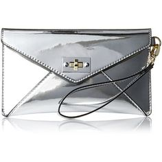 MG Collection Mirror Envelope Clutch