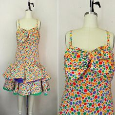 IN THE SHOP Vintage 1980s Oscar de la Renta Miss O Polka Dot Dress (36/32/free) http://ift.tt/1lP6fC1