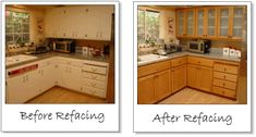 kitchen cabinet refacing before and after photos | Cabinet Refacing ...
