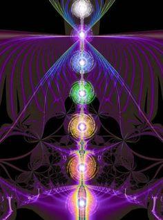I love this chakra pic... good info on clearing your chakras, too. :)