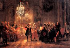 Adolph von Menzel, The Flute Concert