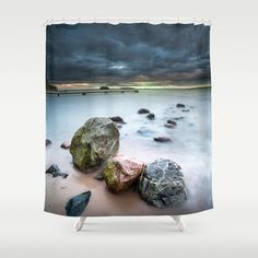 Buy Shower Curtains featuring Dead on arrival by HappyMelvin. Made from 100% easy care polyester our designer shower curtains are printed in the USA and feature a 12 button-hole top for simple hanging.