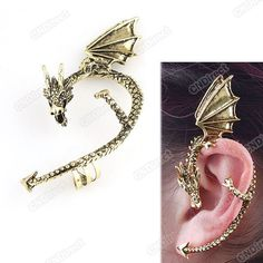 'Gothic Punk Dragon Ear Cuff' is going up for auction at  3am Thu, Feb 7 with a starting bid of $12.