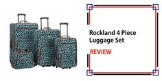 Rockland 4 Piece Luggage Set Review Best Carry On Luggage, Luggage Sets, Travel Items, Travel Pics, Designer Suitcases, Cheap International Flights, Email Marketing Tools, Eurotrip, Holiday Travel