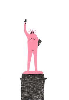 Lady LibertyAmy Victoria Marsh 2014 #design #illustration