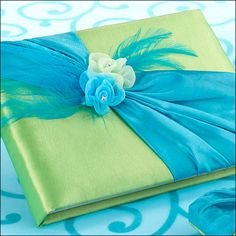 Blue and Green Wedding Guestbook