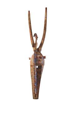 Bobo Mask, Burkina Faso Blue Pigment, Horns, Auction, African, Fine Art, Horn, Visual Arts, Antlers