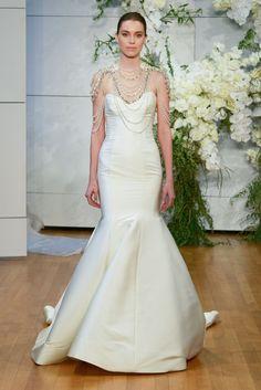 b61cce96f The Freshest Dresses From Bridal Fashion Week via @WhoWhatWear Mermaid  Wedding, Nice Asses,