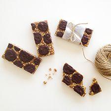 Raw caramel bars
