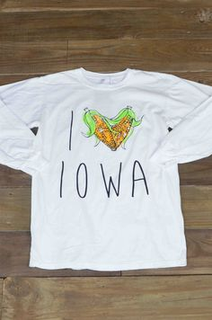 The great state of Iowa and a love for corn on the cob go hand-in-hand. Rep your great state in this cute long sleeve t-shirt.