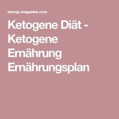 Ketogene Diät - Ketogene Ernährung Ernährungsplan