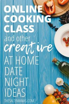 Bored of the old stay at home date night ideas? Then you'll love these creative ideas for your next stay at home date night from The Salty Mamas. Couples Game Night, Online Cooking Classes, At Home Dates, At Home Date Nights, Potty Training Tips, Perfect Date, Good Dates, Family Night, Healthy Relationships