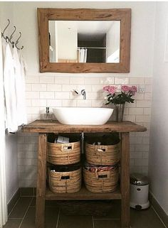 How much does a bathroom renovation cost? Cabin Bathrooms, Rustic Bathrooms, Laundry In Bathroom, Small Bathroom, Rustic Bathroom Designs, Rustic Bathroom Vanities, Bathroom Interior, Bathroom Renovation Cost, Diy Bathroom Remodel