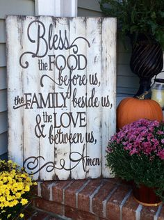 Family Prayer rustic wooden sign made from by SignsfromthePines