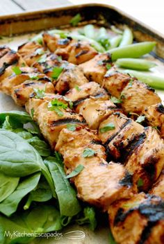 Grilled Thai Chicken Skewers is a healthy grill recipe idea with the best marinade. Kid friendly and amazingly delicious. Low carb, gluten free