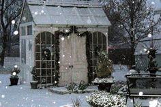 Winters tuinhuisje