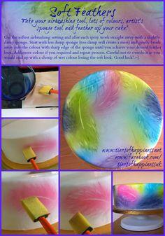 Fondant Tutorials #2: Airbrushing - Soft Feather Effect - CakesDecor