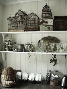 White Vintage Home (birdcages!)