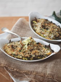While many gratins are blanketed in cream, butter, and cheese, this kale and spaghetti squash take is relatively light, allowing the flavors of spaghetti squash and kale to shine.