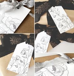 Some sweet little hand illustrated gift tags, the perfect finishing touch to those Christmas presents you still haven't wrapped. Grab your free printable tags here. Free Printable Gift Tags, Templates Printable Free, Free Printables, Paper Templates, Free Downloads, Free Coloring, Coloring Pages, Colouring, Freebies