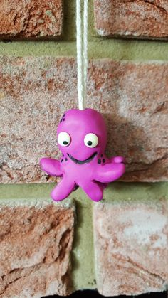 Dark pink / Purple Octopus Light pull with glow in the dark eyes by HandmadeNorfolk on Etsy Octopus Design, Light Pull, Dark Eyes, Tentacle, Pink Purple, The Darkest, Cool Designs, Glow, Christmas Ornaments