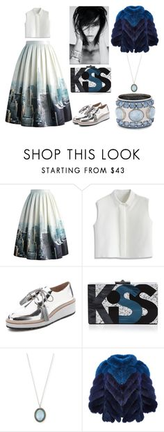 Blue Kiss by chaeris on Polyvore featuring Chicwish, J. Mendel, Loeffler Randall, Rafé New York, Armenta and Chico's