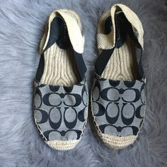 Coach rayanne espadrilles Very comfortable sling back espadrilles. Very good condition. Great for spring/summer. 7 1/2 B in size.  the price is firm due to posh fees. Coach Shoes Espadrilles